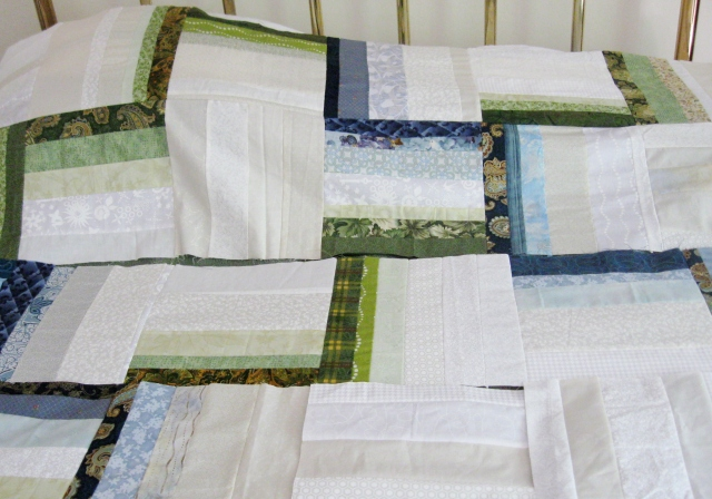 Auction rail fence quilt work in progress
